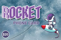 Rocket PhoneCard $20 - International Calling Cards