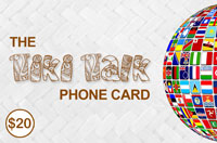 Tiki Talk PhoneCard $20 - International Calling Cards