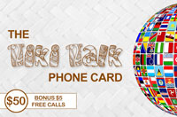 Tiki Talk PhoneCard $50 - International Calling Cards