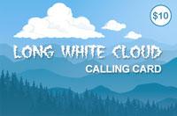 Long White Cloud $10 - International Calling Cards