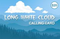 Long White Cloud $20 - International Calling Cards
