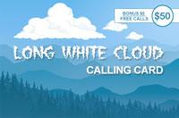 Long White Cloud $50 - International Calling Cards