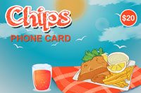 Chips Phone Card $20 - International Calling Cards