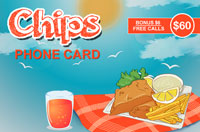 Chips Phone Card $60 - International Calling Cards